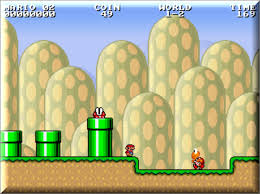 Mario screen with piranha